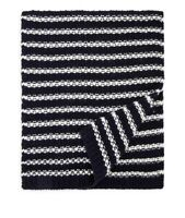 The Men's Store Scarf Navy Ivory Striped No Size