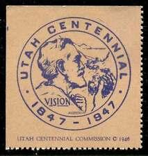 USA Poster Stamp - 1947 Utah Centennial