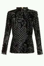 Authentic Balmain velvet and silk top size 8uk