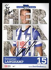 Sebastian Langkamp Autogrammkarte Hertha BSC Berlin 2013-14 Original + A 108834