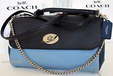 coach leather F57501 bag purse crossbody shoulder mini ruby clutch blue