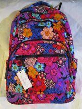 VERA BRADLEY Essential Large Backpack Campus Backpack FLORAL FIESTA
