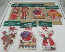 Lot of 4 Mary Engelbreit Vintage Wooden Christmas Ornaments Midwest of Cannon