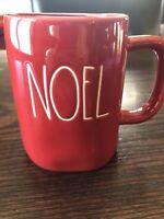 RAE DUNN Christmas NOEL Red W White Letters Mug Rare