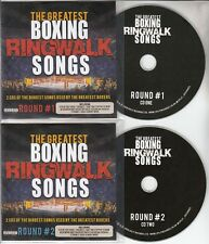 The Greatest Boxing Ringwalk Songs UK 36-track promo test 2-CD Kasabian Oasis