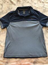 Greg Norman For Tasso Elba Mens Blue Polo Shirt Play Dry Golf Sz M