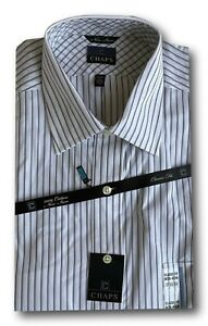 Chaps Men's 17 (32/333) Long Sleeve Classic Fit Stripped Button Down Shirt
