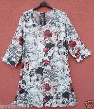 NEU SARAH SANTOS Tunika Shirt Tunic Tunique Tunica XXL 52 54 Lagenlook **