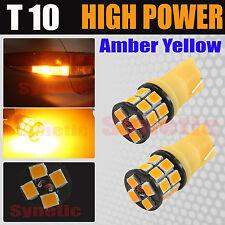 2X T10 168 High Power 2835 Chip LED Amber/Yellow Interior Light Bulbs