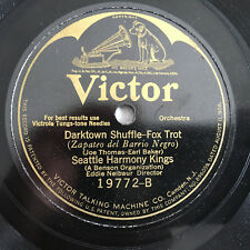 78 rpm record Seattle Harmony Kings DARKTOWN SHUFFLE Victor  Victrola Disc 20's