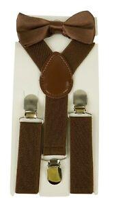 Kids Suspender & Bow Tie Sets for Boys Girls Children Elastic & Adjustable
