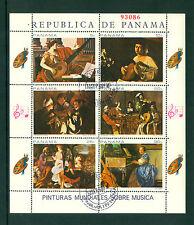 Panama 1968, Painting, Art, Music, M/Sheet, CTO 76