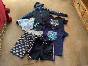 Boys Bundle Kenzo Armani Adidas Etc Hoody T-shirts Shorts Aged 9-10 Yrs