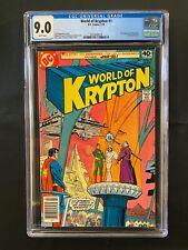 World of Krypton #1-3 CGC 9.0, 9.4, 9.2 (1979) - 1st comic min-series - Superman