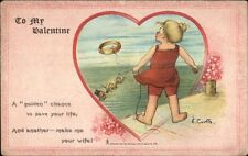 Leap Year - Valentine - Little Girl Throws Ring to Drowning Boys Curtis TUCK