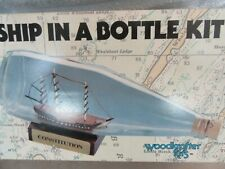 WOODKRAFTER MODEL KIT SHIP IN A BOTTLE CONSTITUTION NO 203 UNUSED IN BOX