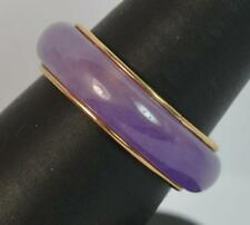 14 Carat Yellow Gold and Lavender Jade Full Eternity Band Ring P0486