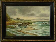 » Fischerboote am Ufer « monogr. CRK ~ 1920