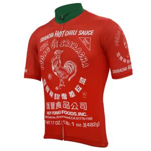 Sriracha Hot Sauce Cycling Jersey MTB Cycling Jersey  Short Sleeve