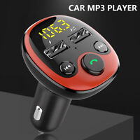 Voiture MP3 Transmetteur FM Adaptateur radio Bluetooth sans fil Chargeur doub LB