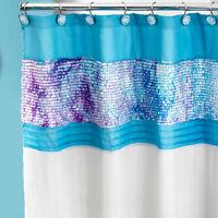 70 x 72 Fabric Bathroom Shower Curtain Popular Bath Tammi Aqua