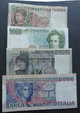 70,000 LIRE / LIRA IN BANKNOTES FROM ITALY / 50,000, 10,000 & 2 x 5000