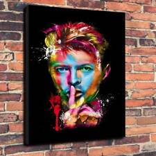 "David Bowie Abstract Printed Box Canvas Picture A1.30""x20"" Deep 30mm Frame Music"