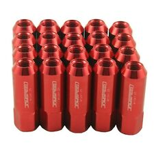 JDMSPEED 20PC 12X1.25MM 60MM EXTENDED FORGED ALUMINUM TUNER RACING LUG NUT RED