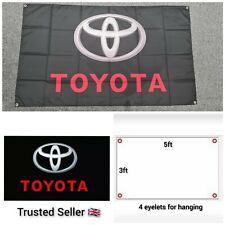 Toyota Workshop Garage Banner Flag Mancave Supra GT86 Yaris Corolla AE86 JDM