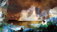 ICEBERG BY FREDERICK EDWIN CHURCH ARTIST PAINTING OIL CANVAS REPRO WALL ART DECO