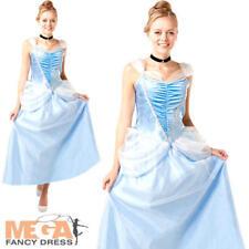 Cinderella Ladies Fancy Dress Disney Princess Fairy Tale Womens Adults Costume