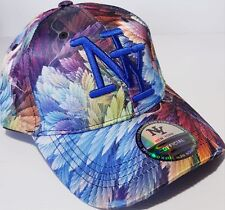 CASQUETTE NY NEW YORK BASEBALL MOTIF FEUILLE MULTICOLORE ORIGINAL HIP HOP