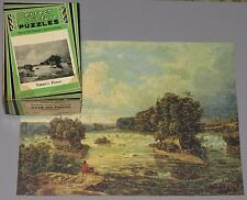 "VTG PERFECT PICTURE JIGSAW PUZZLE ""NATURE'S POWER"" WHITE WATER RAPIDS FALLS CIB"
