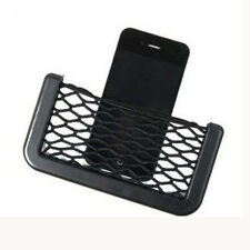 1pc Car Seat Side Back Storage Net Bag Phone Holder Pocket Organizer Universal