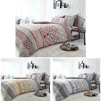 LUXURY DUVET COVER SET WITH PILLOW CASES KING SIZE SINGLE DOUBLE PRINTED BEDDING