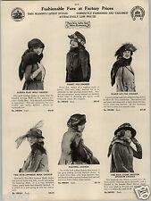 1924 PAPER AD 11 PG Stylish Fur Coat Coats Mink Bay Hudson Seal Muskrat Squirrel