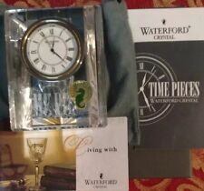WATERFORD CRYSTAL COLONNADE CLOCK 5123110032 BRAND NEW IN ORIGINAL BOX $200