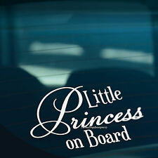 LITTLE PRINCESS ON BOARD Funny Novelty Car,Bumper,Window Vinyl Decal Sticker