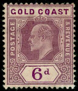 GOLD COAST SG64, 6d dull & deep purple, UNUSED. Cat £45.