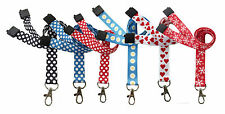 Quality Printed Neck Strap Lanyards, Snow Flake, Christmas, Heart, Polka Dot