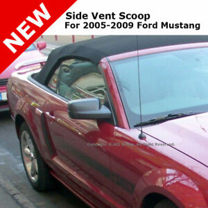 For 05-09 Mustang Stick on Side Fender Scoops Painted HP High Performance White