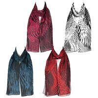 Chiffon Ladies Womens Geometric Design Scarf Shawl Wrap