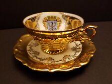 """Vintage Schweinfurt Echt Gold Hallererstein Bavaria Cup 3 3/4"""" d & Saucer 5 3/4"""""""