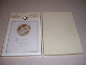 Vintage Hallmark Baby's Christening Personalized Plaque - New in Box