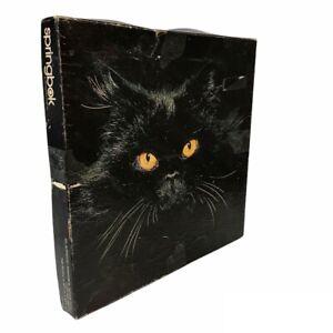 Midnight Black Cat 500+ Piece Puzzle by Springbok Vintage 1977 Fun & Challenging
