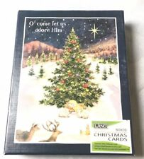 """Lang Christmas Cards """"Let Us Adore Him"""" Artwork by Betty Whiteaker New 18 cards"""