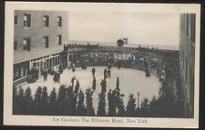 Postcard NEW YORK NY  Hotel Biltmore Ice Skating Rink Aerial view 1910's