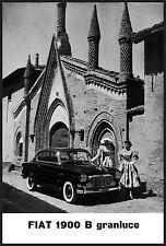 FIAT 1900 B GRANLUCE ELEGANZA LUSSO VIAGGIO 1956