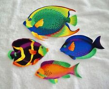 TROPICAL FISH  LARGE  COTTON IRON ON FABRIC APPLIQUES    #51