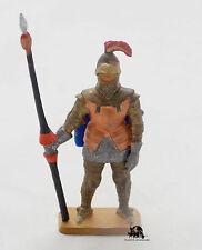 Figurine STARLUX Plastique Vintage Moyen Age Lancier avec Heaume Figure